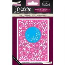 Crafters Companion Diesire A6 Create-a-Card Metal Die - Daisy Dreams